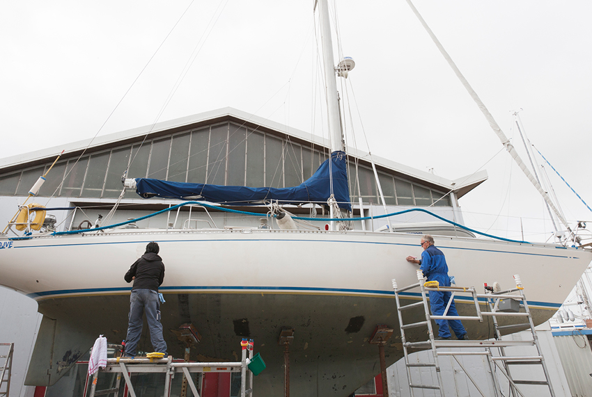onderhoud tijdens winterberging Jachthaven Hindeloopen